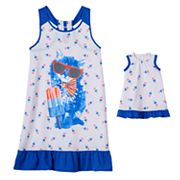 Girls 4-16 SO® Americana Cat Dorm Nightgown & Doll Gown Set