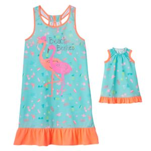 Girls 4-16 SO® Print Dorm Nightgown & Doll Gown Set