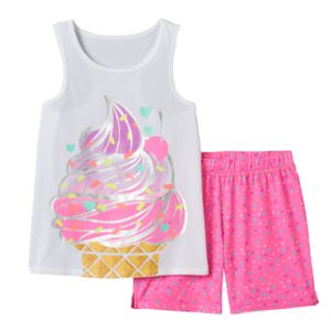 Girls 4-16 SO® Ice Cream Tank & Shorts Pajama Set