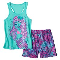 Girls 4-16 SO® Racerback Tank & Shorts Pajama Set