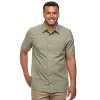 Big & Tall Haggar Classic-Fit Microfiber Easy-Care Button-Down Shirt