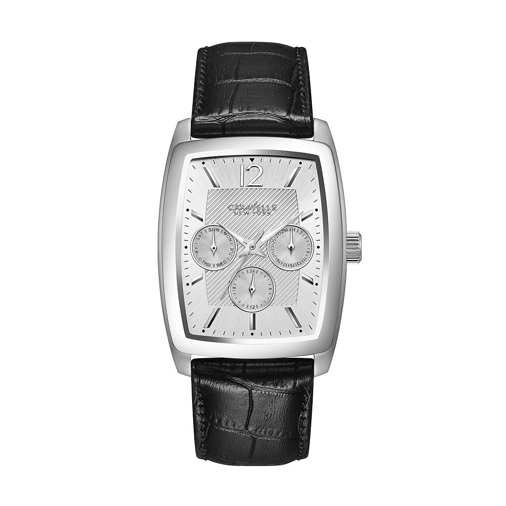 Caravelle New York by Bulova Men's Leather Watch - 43C116