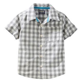 Toddler Boy OshKosh B'gosh® Woven Short-Sleeved Button-Front Shirt