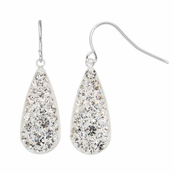Confetti Clear Crystal Teardrop Earrings