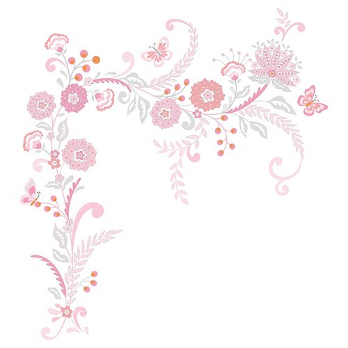 Happi by Dena Charlotte Floral Wall Appliques by Lambs & Ivy