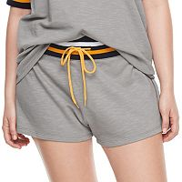 madden NYC Juniors' Plus Size Drawstring Varsity Shorts