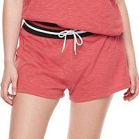 madden NYC Juniors' Plus Size Drawstring Varsity Shorts