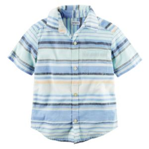 Toddler Boy Carter's Striped Woven Button-Front Shirt