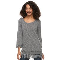 Women's SONOMA Goods for Life™ Eyelet Fringe Sweater