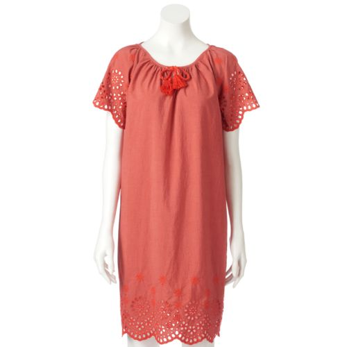 Women's Sonoma Goods For Life™ Eyelet Shift Dress by Kohl's