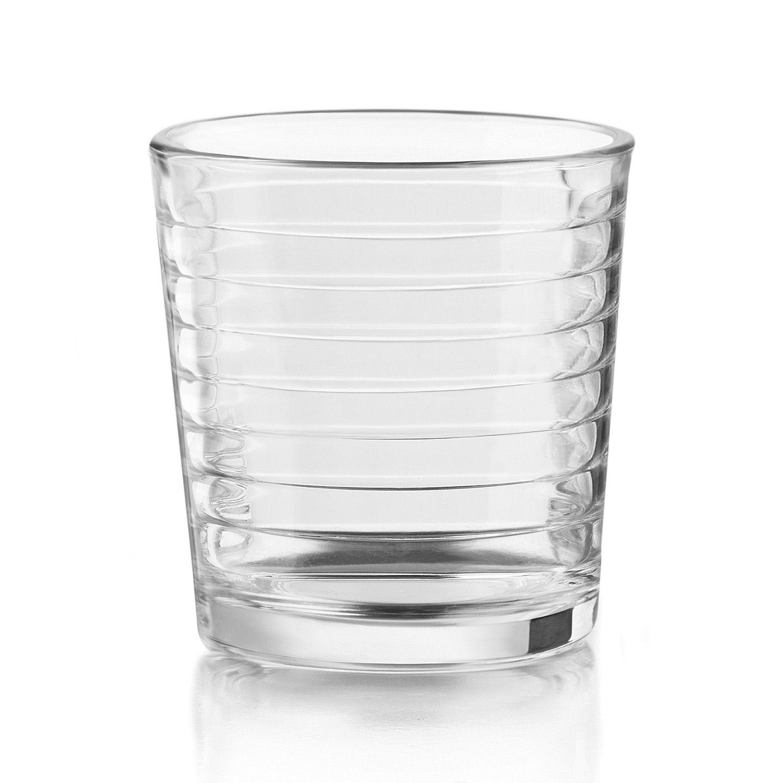 libbey hoops 12pc double glass set - Rocks Glasses