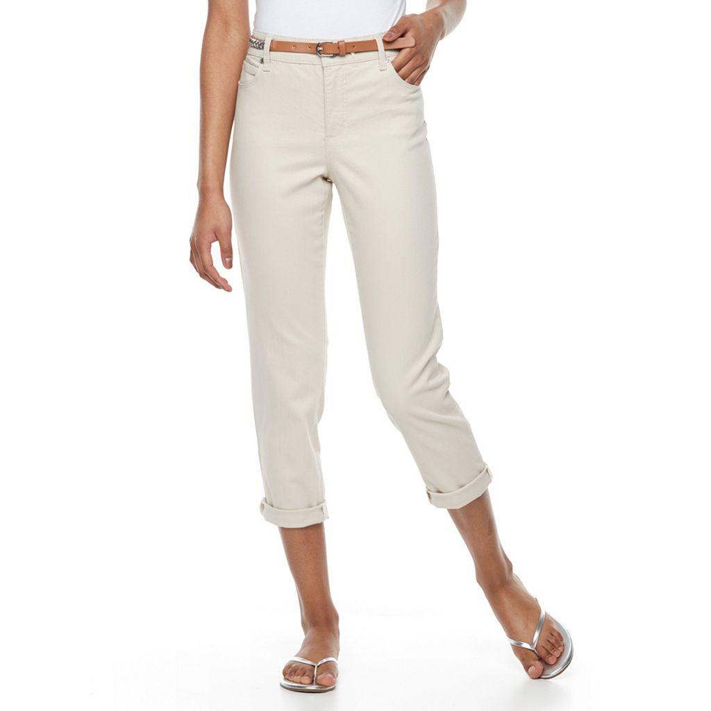 Petite Gloria Vanderbilt Stefania Slim Fit Ankle Jeans