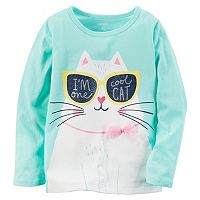 Girls 4-8 Carter's Long Sleeve Tulle Bow Graphic Tee