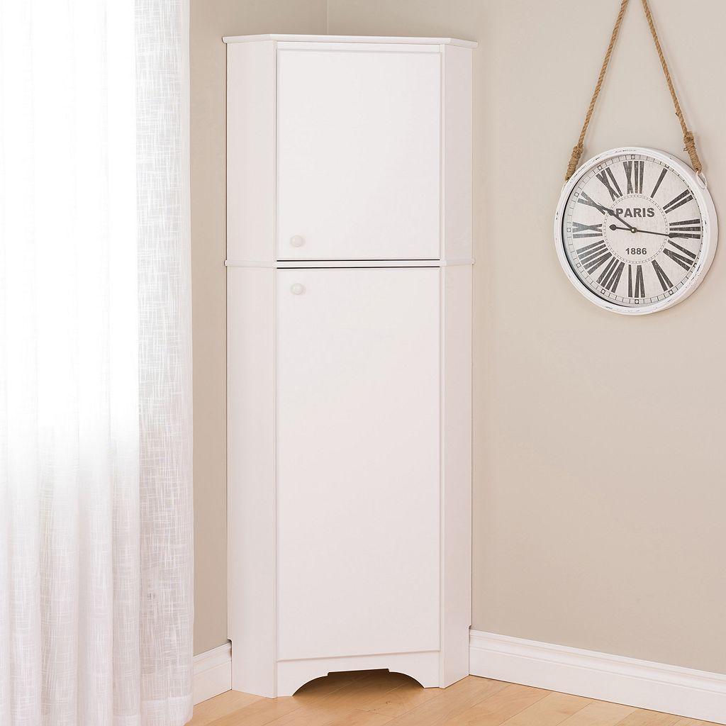 Prepac Elite Tall 2-Door Corner Storage Cabinet