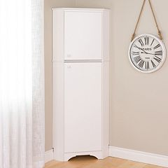 Prepac Elite Tall 2-Door Corner Storage Cabinet
