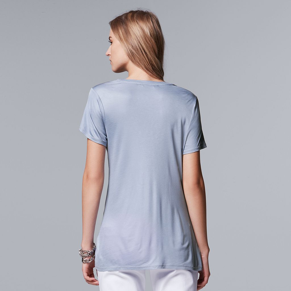 Women's Simply Vera Vera Wang Simply Separates Pleated Front Top
