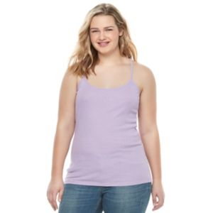 Juniors' Plus Size SO® Ribbed Camisole