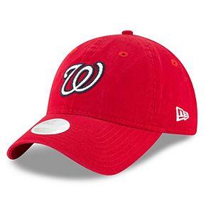 Women's New Era Washington Nationals 9TWENTY Glisten Adjustable Cap