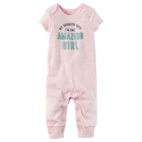 Baby Girl Carter's Family Slogan Graphic Coverall