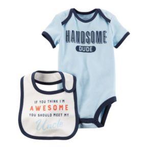 Baby Boy Carter's Family Slogan Graphic Bodysuit & Bib Set