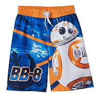 Boys 4-7 Star Wars BB-8 Swim Trunks