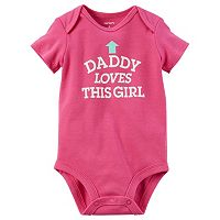 Baby Girl Carter's Family Graphic Slogan Bodysuit