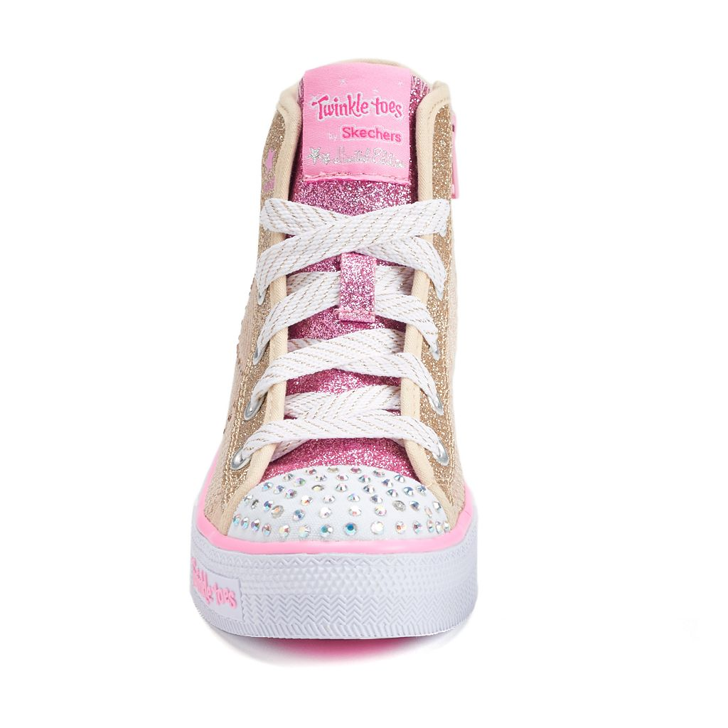 Skechers Twinkle Toes Shuffles Dazzle Dance Girls' Light-Up Shoes