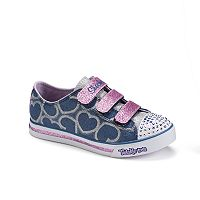 Skechers Twinkle Toes Sparkle Glitz Hearts Girls' Light-Up Shoes