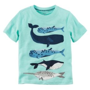 Baby Boy Carter's Short Sleeve Sea Creature Graphic Tee