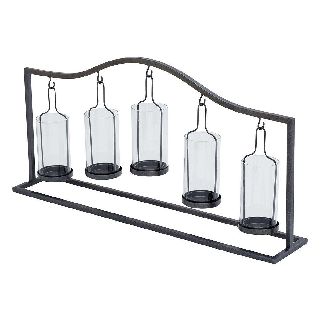 Hanging Glass Bottle 5-Votive Candle Holder