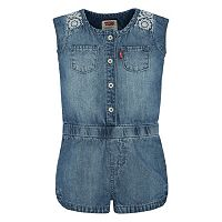 Baby Girl Levi's Denim Romper