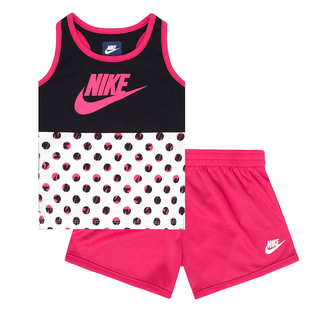 Toddler Girl Nike Futura Tank Top & Mesh Shorts Set
