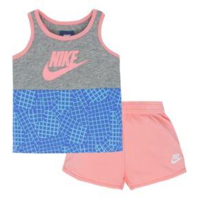 Girls 4-6x Nike Futura Tank Top & Mesh Shorts Set