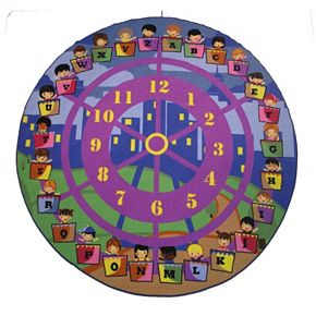 Fun Rugs Fun Time Wheel of Fun Rug - 6'8'' Round