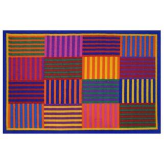 Fun Rugs Fun Time Rainbow Stripes Rug - 3'3'' x 4'10''