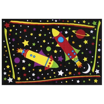 Fun Rugs Fun Time Outer Space Rug - 3'3'' x 4'10''