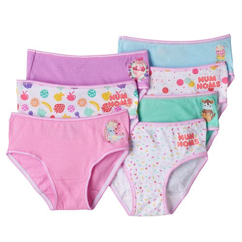 Girls 4-10 Num Noms Van Minty, Candie Puffs & Raspberry Cream 7-pk. Brief Panties