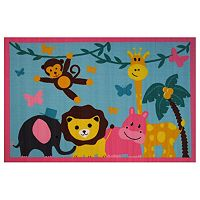 Fun Rugs Fun Time Jungle Party Animal Rug - 3'3'' x 4'10''