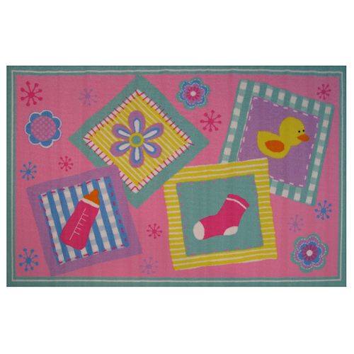 Fun Rugs Fun Time Rock-A-Bye Baby Rug - 3'3'' x 4'10''