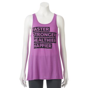Juniors' SO® Open Back Graphic Tank