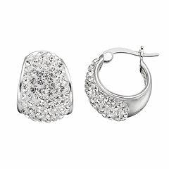 Confetti Clear Crystal Hoop Earrings