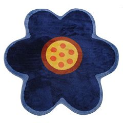 Fun Rugs Fun Time Shape Blue Poppy Rug - 3'3'' x 3'3''