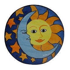 Fun Rugs Fun Time Shape Day & Night Rug - 3'3'' Round