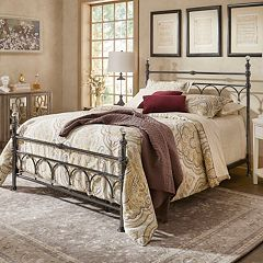 HomeVance Adena Faux Crystal Poster Bed