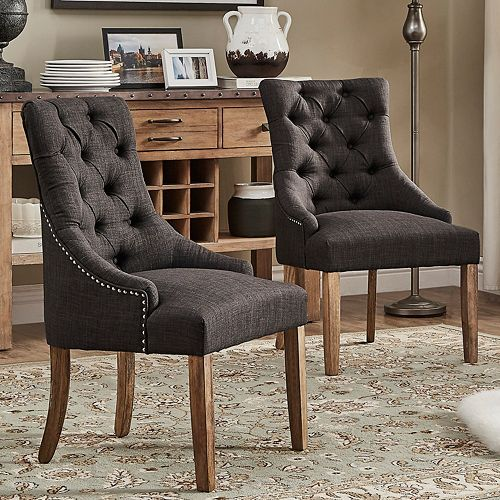 Homevance Tristania Tufted Accent Chair 2 Piece Set
