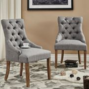 HomeVance Tristania Tufted Accent Chair 2 pc Set