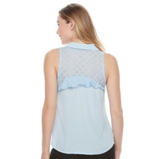 Juniors' Candie's® Ruffle Sleeveless Shirt