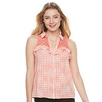 Juniors' Candie's® Ruffle Sleeveless Shirt
