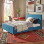 HomeVance Peggy Mid Century Button Tufted Bed