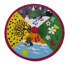 Fun Rugs Fun Time Shape Four Seasons Rug - 3'3'' Round